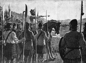 Robert the Bruce at Bannockburn (Wiki Commons)