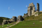 Ruins of Corfe Castle today (Jim Champion)